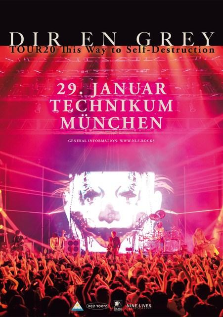 """Dir En Grey,Tour 2020 This Way to Self-Destruction"""" 29.01.2020, Technikum München"""