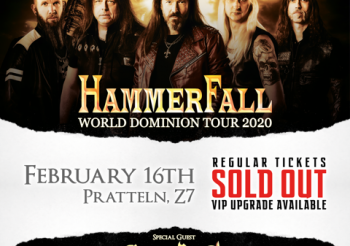 Hammerfall – World Dominion Tour 07.02.2020, Tonhalle – AUSVERKAUFT!